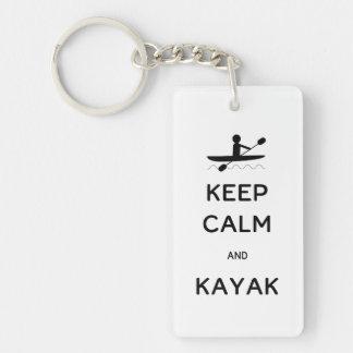 Behållalugn och kajak nyckelring