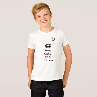 behållalugn och klick på t-shirts