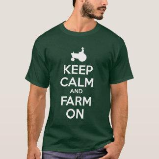 Behållalugn och lantgård på t-skjortan tshirts