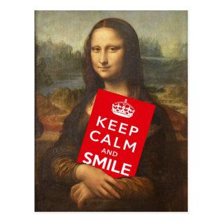 Behållalugn och leende vykort