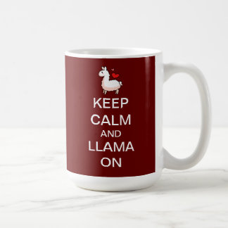 Behållalugn och Llama på Kaffemugg