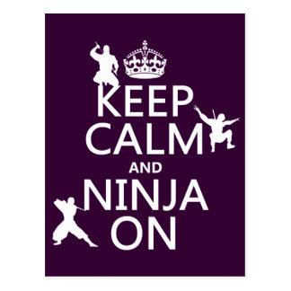 Behållalugn och Ninja på (i någon färg) Vykort