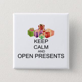 Behållalugn och öppnar presenter standard kanpp fyrkantig 5.1 cm