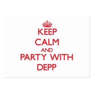 Behållalugn och party med Depp Visitkort