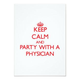 Behållalugn och party med en läkare 12,7 x 17,8 cm inbjudningskort