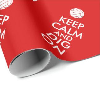 Behållalugn och pik på volleybollsportälskare presentpapper