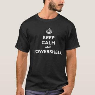 Behållalugn och PowerShell - mörk T-tröja T-shirt