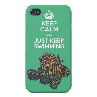 behållalugn och precis behålla som simmar fodral f iPhone 4 skal