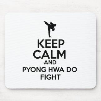 Behållalugn och Pyong Hwa slåss Musmatta