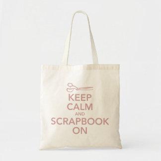 Behållalugn och Scrapbook på toto 2, rosor Tote Bag