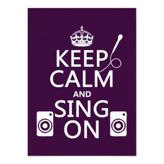 Behållalugn och sjunga på (Karaoke) 14 X 19,5 Cm Inbjudningskort