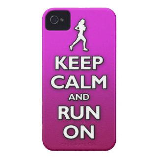 BEHÅLLAlugn och springa på Case-Mate iPhone 4 Fodral