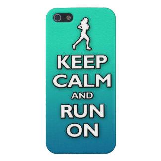 BEHÅLLAlugn och springa på iPhone 5 Fodral