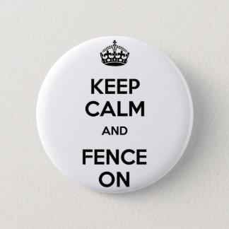 Behållalugn och staket på standard knapp rund 5.7 cm