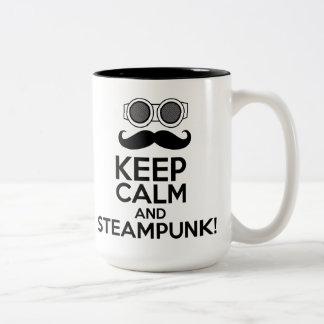 Behållalugn och Steampunk Två-Tonad Mugg