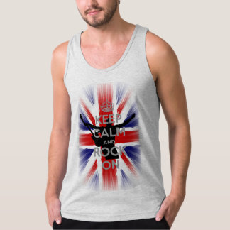 Behållalugn och sten på UK-flagga Tanktop