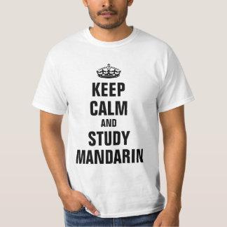 Behållalugn- och studieMandarin T Shirt