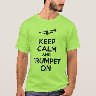 behållalugn och trumpet på tshirts