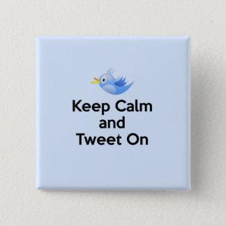 Behållalugn och Tweet på, blåsångare Standard Kanpp Fyrkantig 5.1 Cm
