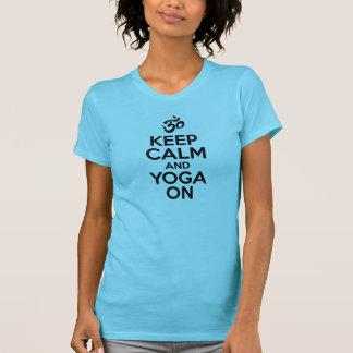Behållalugn och Yoga på T-shirt