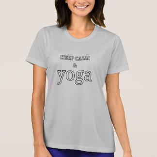 Behållalugn och Yoga - tryck T Shirts