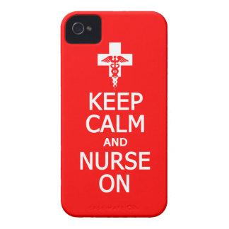 Behållalugn & sjuksköterska på blackberry iPhone 4 skydd