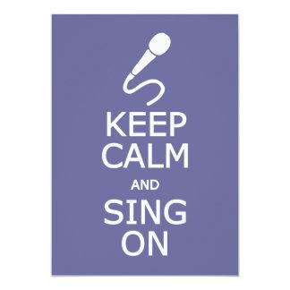 Behållalugn & sjunga på beställnings- inbjudningar