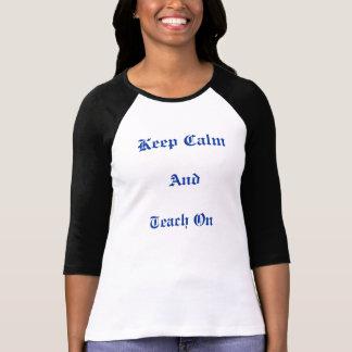 Behållalugn, undervisar på utslagsplats t shirt