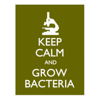 Behållalugn växer bakterievykortet vykort