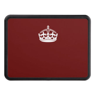 Behållalugnkrona på Burgundy den röda dekoren Skydd För Dragkrok