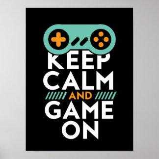 Behållalugnlek på affischen för videospelGeek Poster