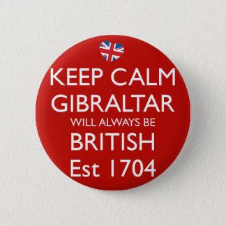 Behållan lugnaa Gibraltar som alltid ska, är det Standard Knapp Rund 5.7 Cm