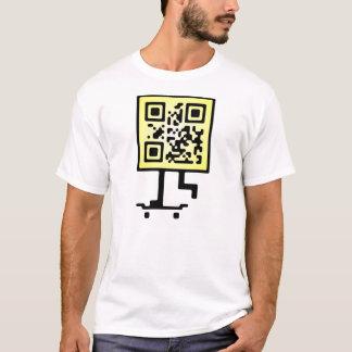 Behållan på driftig qr kodifierar design t shirt