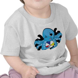 Behandla som ett barn bläckfisken och hans skjorto t shirt