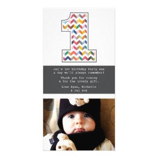 Behandla som ett barn den 1st födelsedagen fotokort