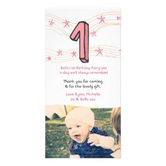 Behandla som ett barn den 1st födelsedagen numrera anpassingsbara fotokort