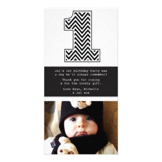 Behandla som ett barn den 1st födelsedagen numrera fotokort
