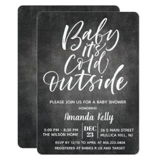 Behandla som ett barn dess kall utanför kritababy 12,7 x 17,8 cm inbjudningskort