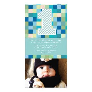 Behandla som ett barn det 1st kortet för födelseda fotokort