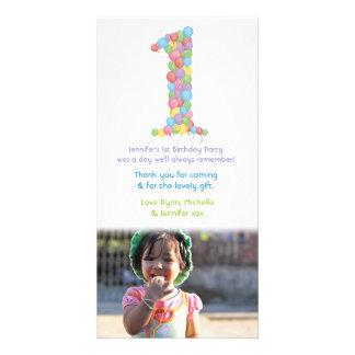 Behandla som ett barn det 1st kortet för fotoet fö anpassade foto kort