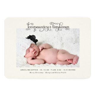 Behandla som ett barn för kyssfödelse för första 12,7 x 17,8 cm inbjudningskort