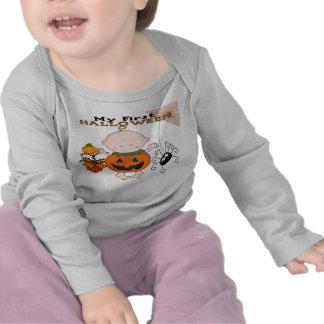 Behandla som ett barn pumpa min 1st Halloween begy T-shirts