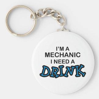 Behöv en drink - mekaniker rund nyckelring