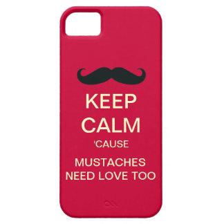 Behöver lugnaa mustascher för behålla fodral för iPhone 5 fodral