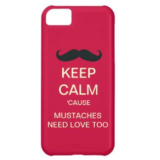 Behöver lugnaa mustascher för behålla fodral för iPhone 5C fodral