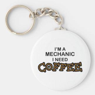 Behovskaffe - mekaniker rund nyckelring