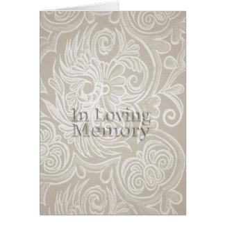 Beige blom- Tapestry, i att älska minnesramkortet Hälsningskort
