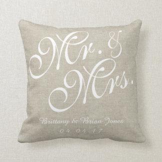Beige gifta sig för vitlinneherrskap kudder kudde