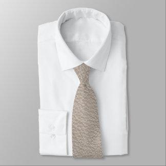 Beige lädertryck slips