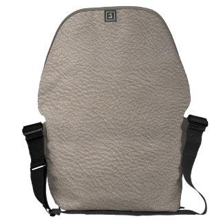 Beige mönster för lädertryckstruktur kurir väskor